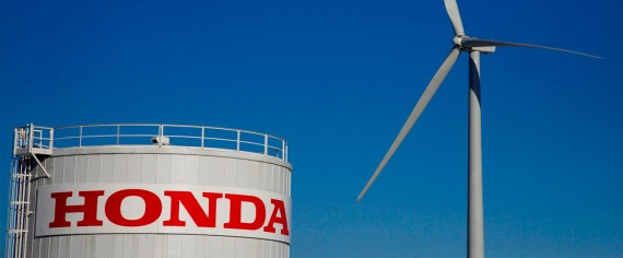 Wind turbine next to Honda plant