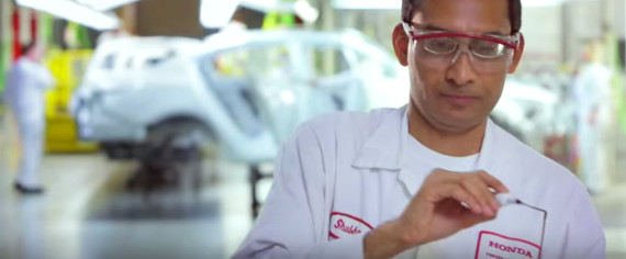 Honda employee working to reduce greenhouse gas emissions