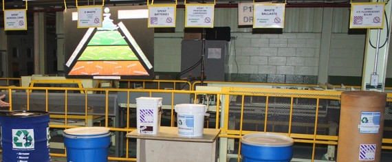 The recycling station at a North American Honda facility