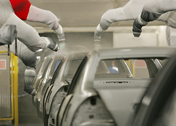 1989: The Honda factory painting process