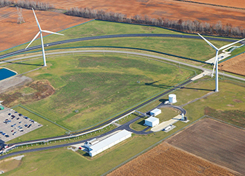 2014: Wind turbines at Honda's Russels Point, OH plant