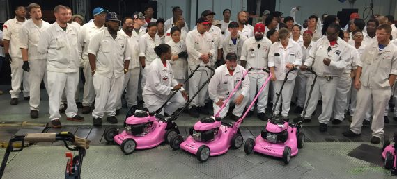 Honda Power Equipment Makes Pink Lawnmovers for Charity