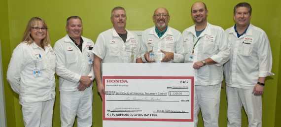 Honda R&D Associate Honored for Volunteer Work