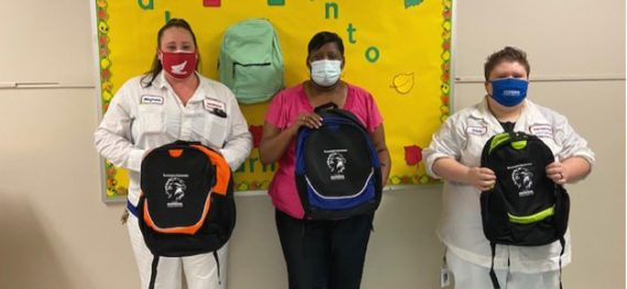 Credit Union Provides Students with New Book Bags